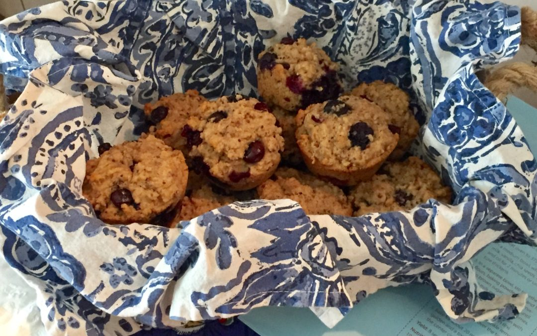 Banana Flaxseed Cranberry Muffins